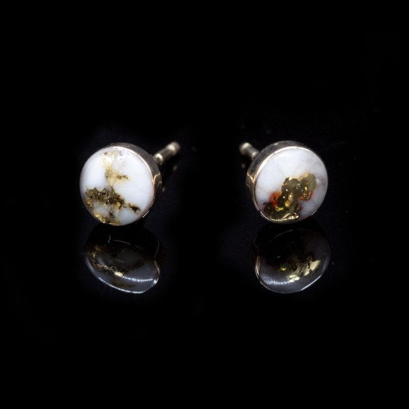 Gold Quartz Stud Earrings EBZ6MMQ
