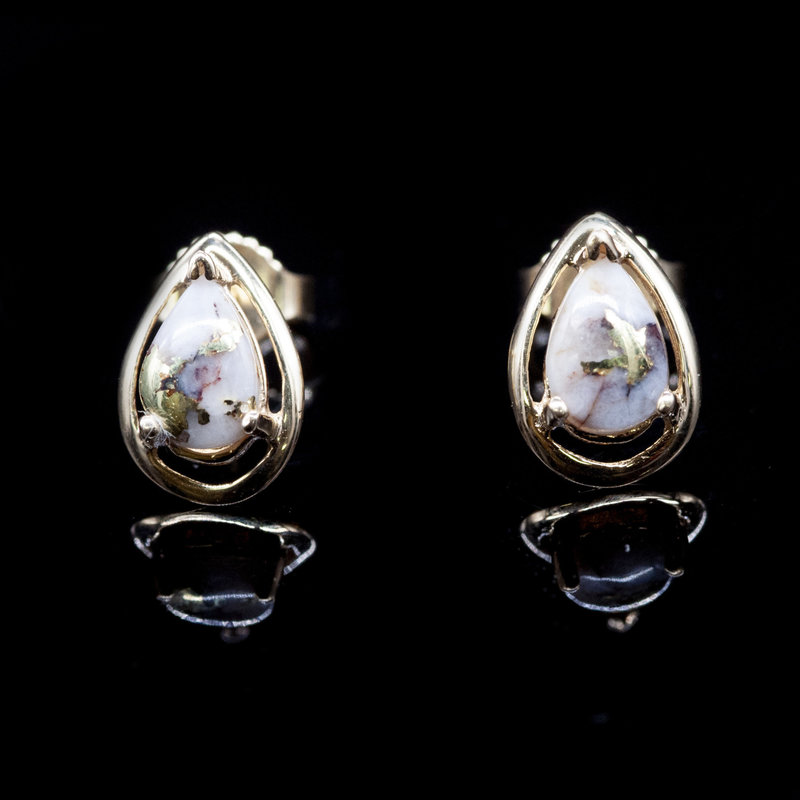 Gold Quartz Earrings EN442Q