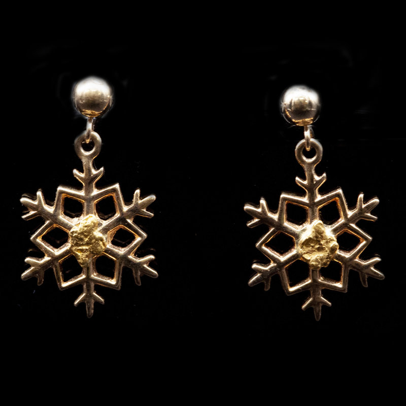 Snow Flake Gold Ears ESF27