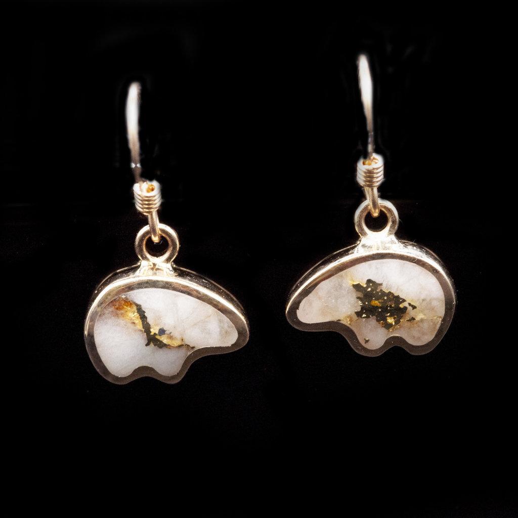 Gold Quartz Earrings EBR1SHQ hook