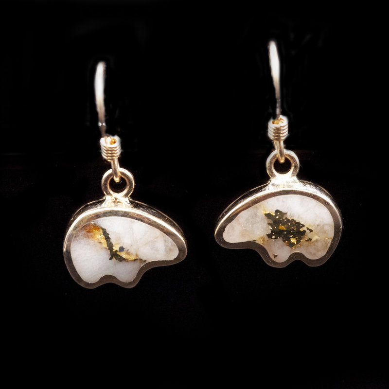 Gold Quartz Earrings EBR1SHQ hook