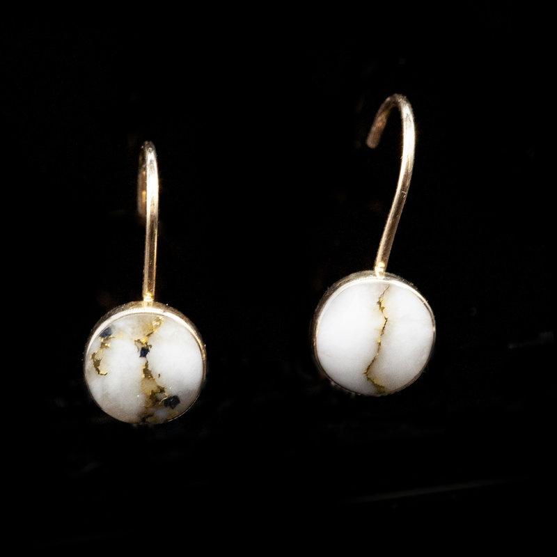 Gold Quartz Earrings ELBBZ6MMQ
