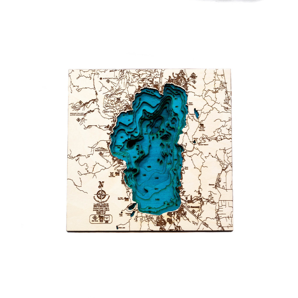 Tahoe Wood Maps Tahoe - Small