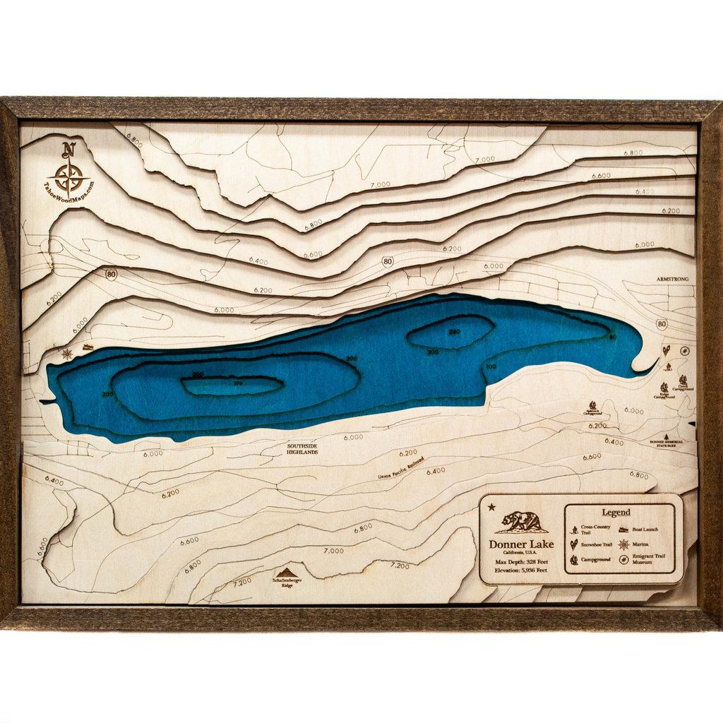 Tahoe Wood Maps Donner Lake
