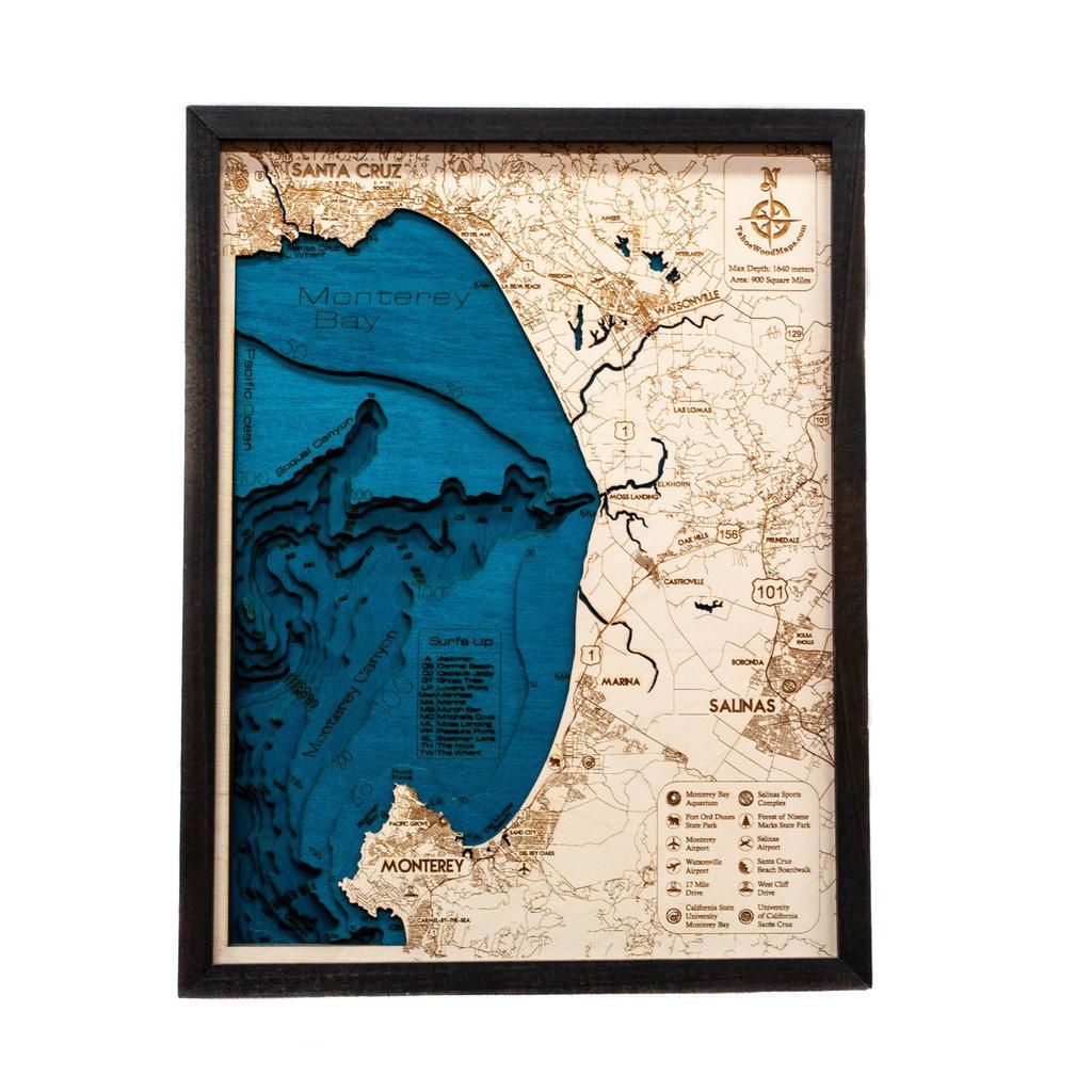 Tahoe Wood Maps Monterey & Santa Cruz