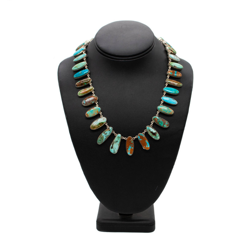 Turq. Necklace 33 Stone - 16""