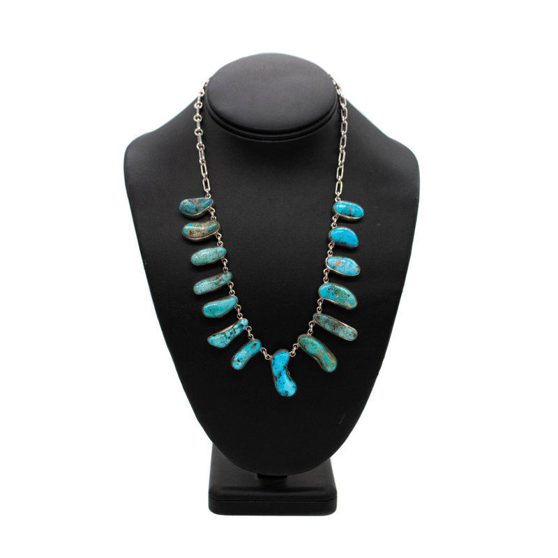 "20"" 14 Stone Turq. Necklace"