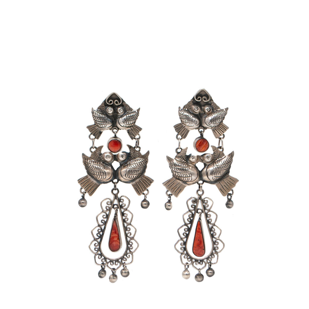 Federico Red Spiny Oyster F.J. earrings