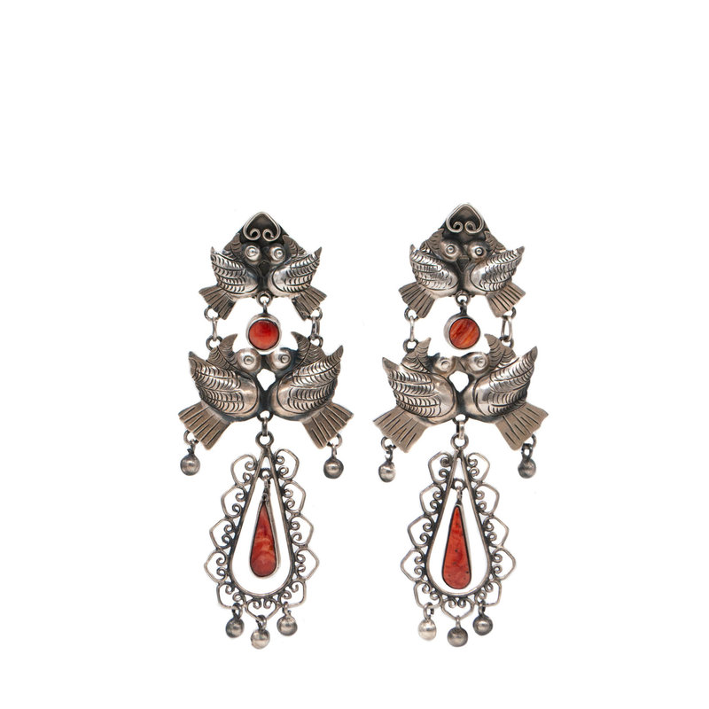 Federico Red Spiny Oyster Federico Earrings