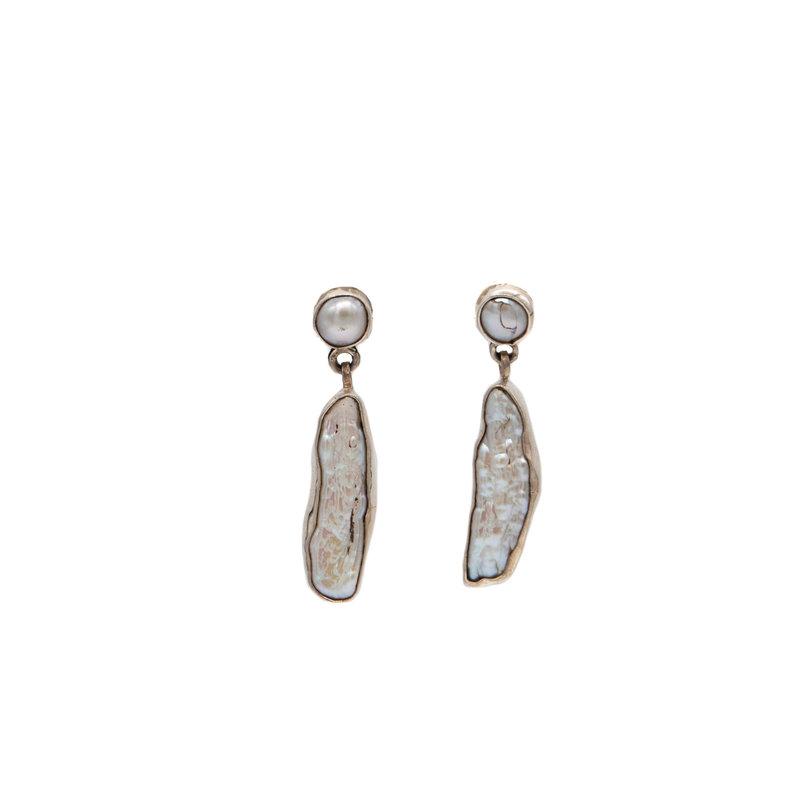 Federico Frida Kahlo Pearl Earrings