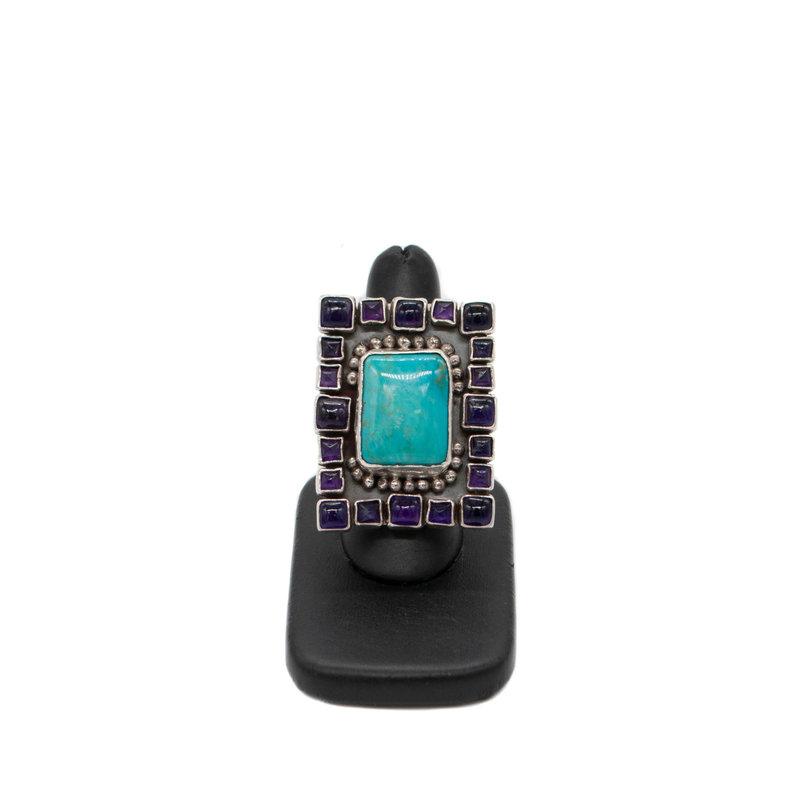 Amythest & Turquoise Ring