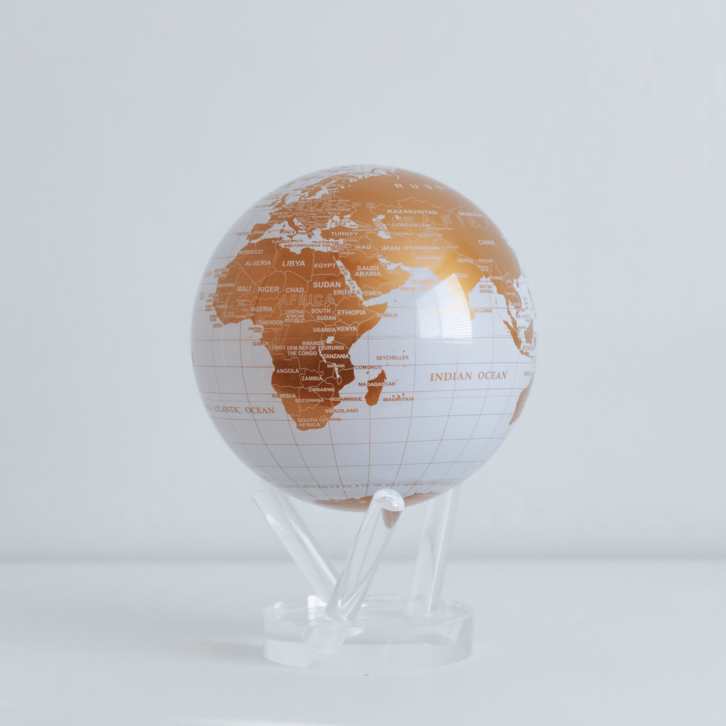 White and Gold Globe 4.5""