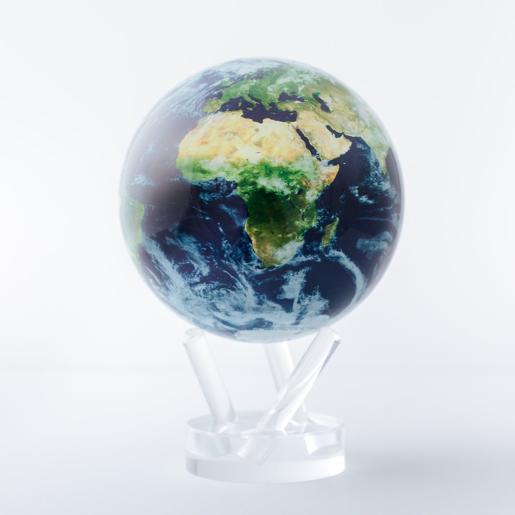 """Earth with Clouds Globe 4.5"""""""