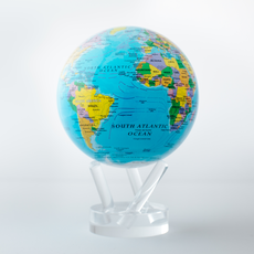 Political Map Blue Globe 4.5""
