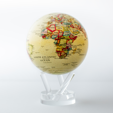 Political Map Yellow Globes 4.5""