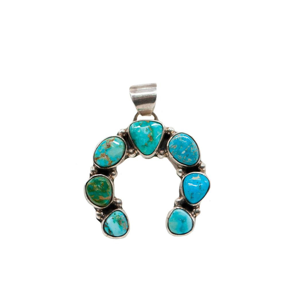Naja 7 stone Turquoise Silver
