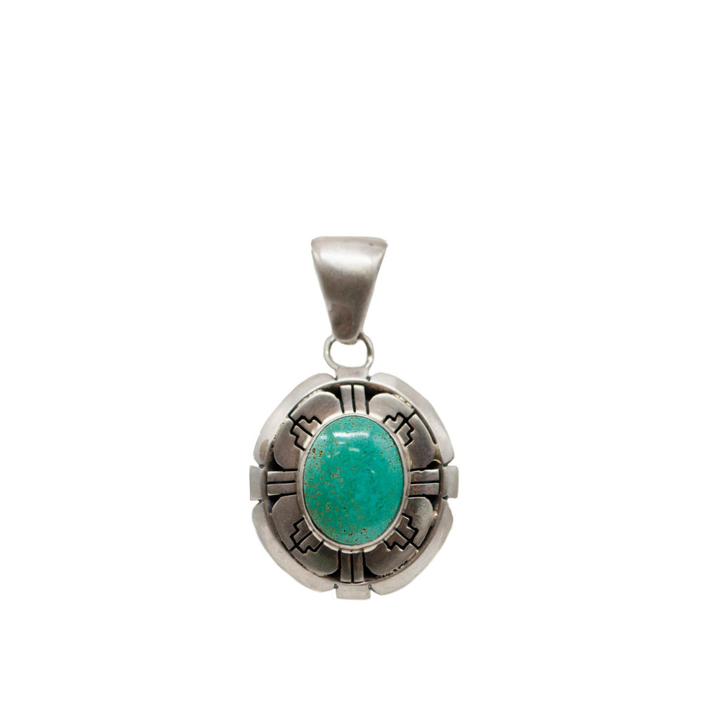 Natural Carico Turquoise Pendant