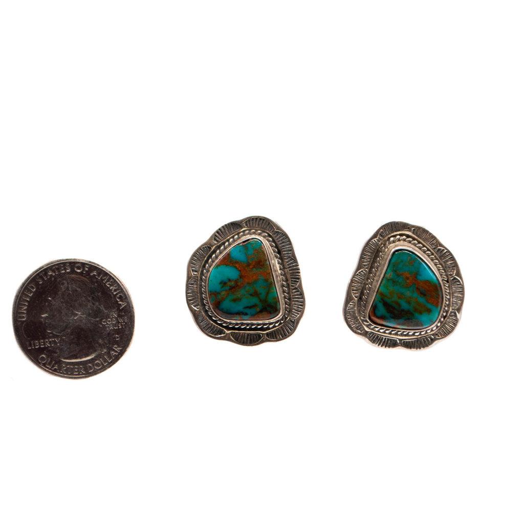 tq earrings green