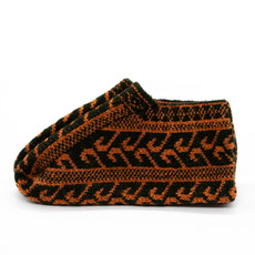 Green/Orange Icelandic Wool Slippers