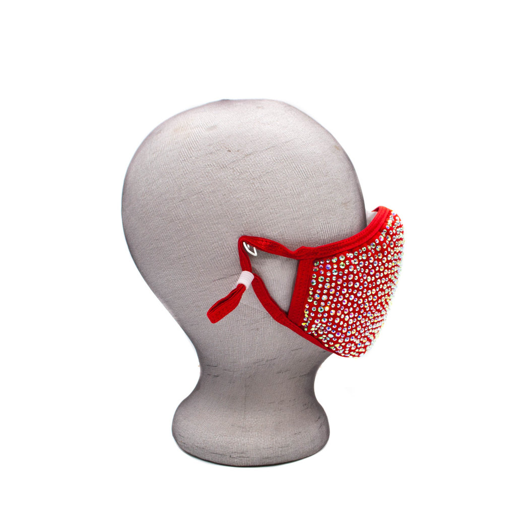 Red Sparkle Face Mask