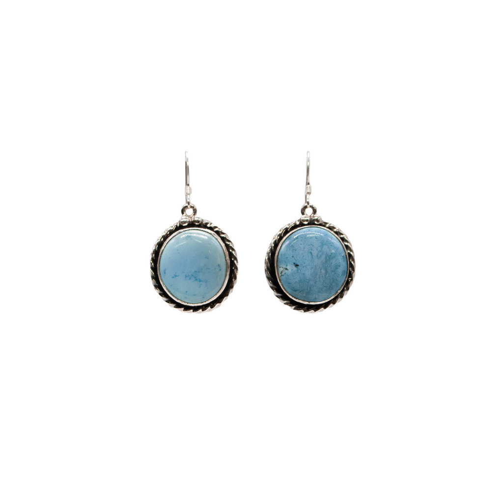 Golden Hills Turquoise Earrings - Circle