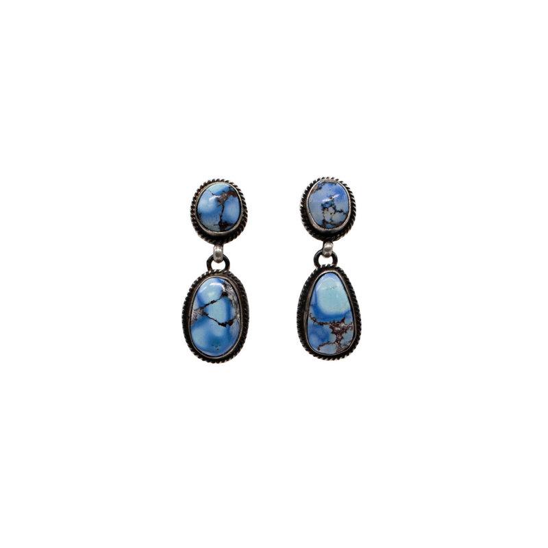 Golden Hills Turquoise Earrings - 2 Stone