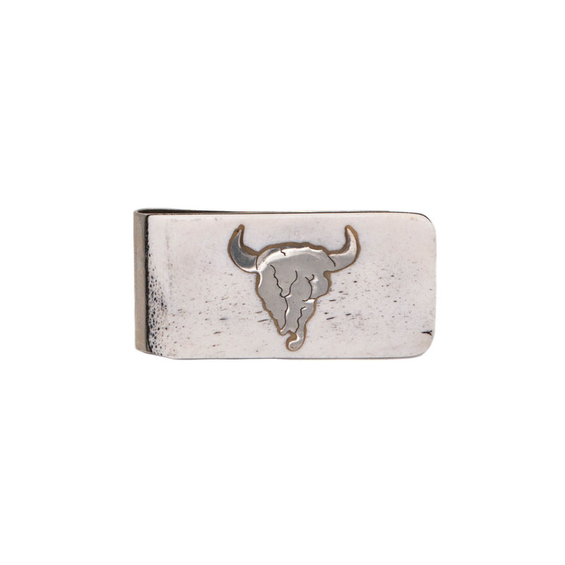 Antler Money Clip - Buffalo Skull