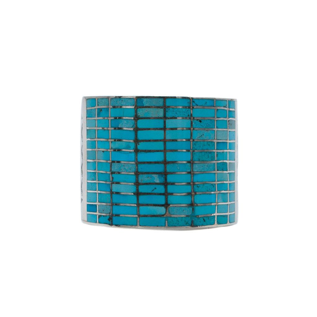 12 Row Inlay Turq. Bracelet