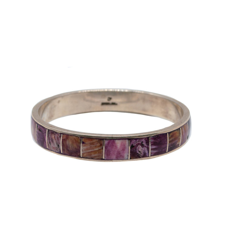 Purple Spiny Oyster Inlay Bracelet - Federico Jimenez