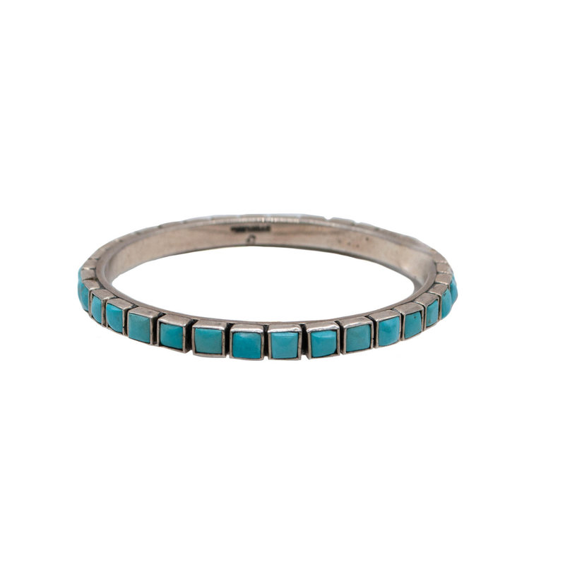 Federico Turquoise and Silver Bangle - Federico Jimenez