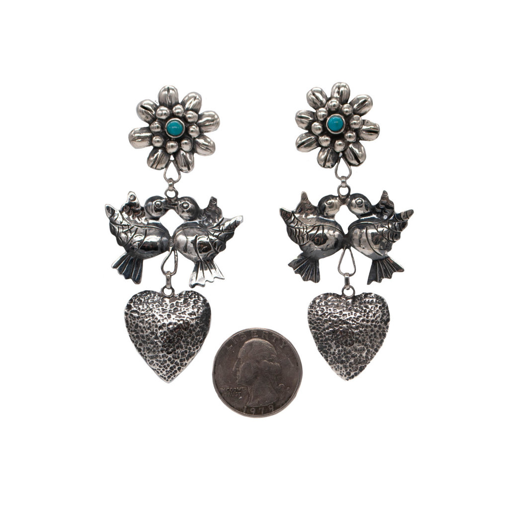 Turquoise & Silver Federico Earrings