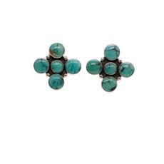 Federico Federico Turquoise Circle Earrings