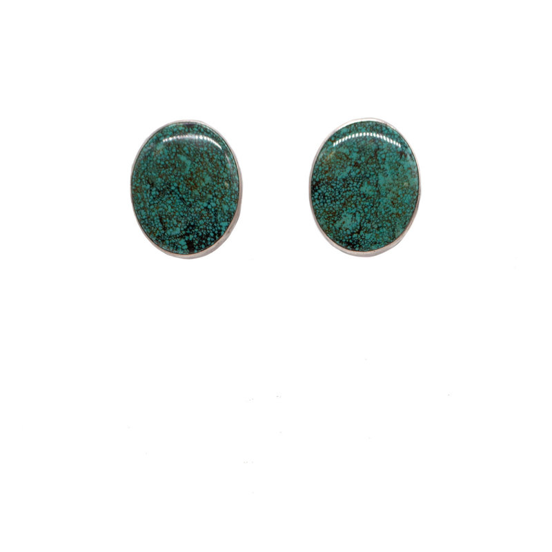 Federico Turquoise Silver Clip Earrings