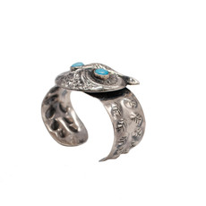 Federico Owl Cuff with Turquoise