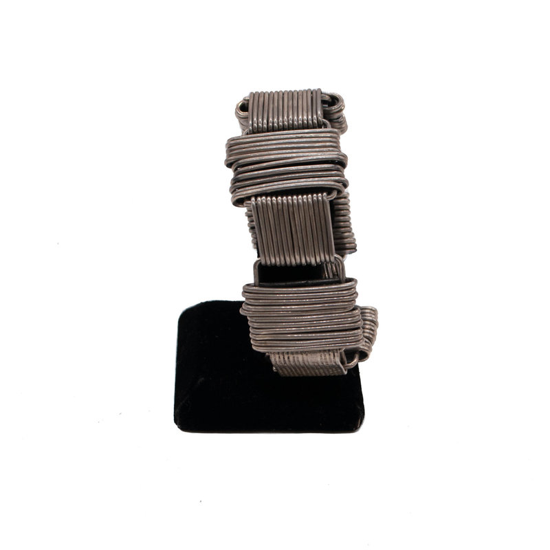 Federico Sterling Silver Thick Wire Bracelet