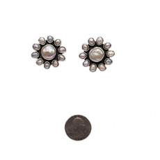 Federico Flower Pearl Earrings