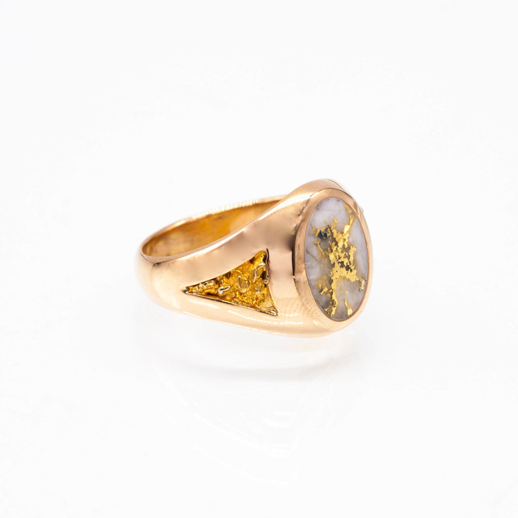 Gold Quartz Ring - RM595Q - 10.75