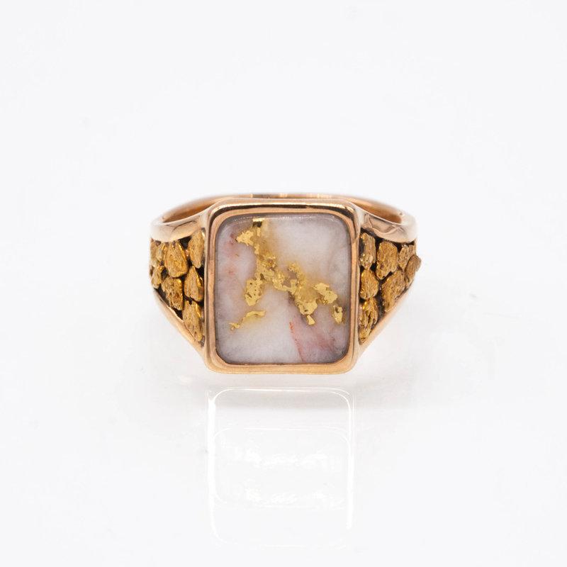 Gold Quartz Ring - RM760Q - 10