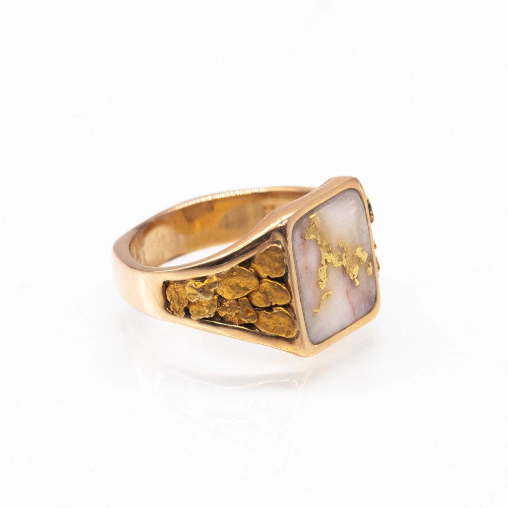 Gold Quartz Ring RM760Q-10