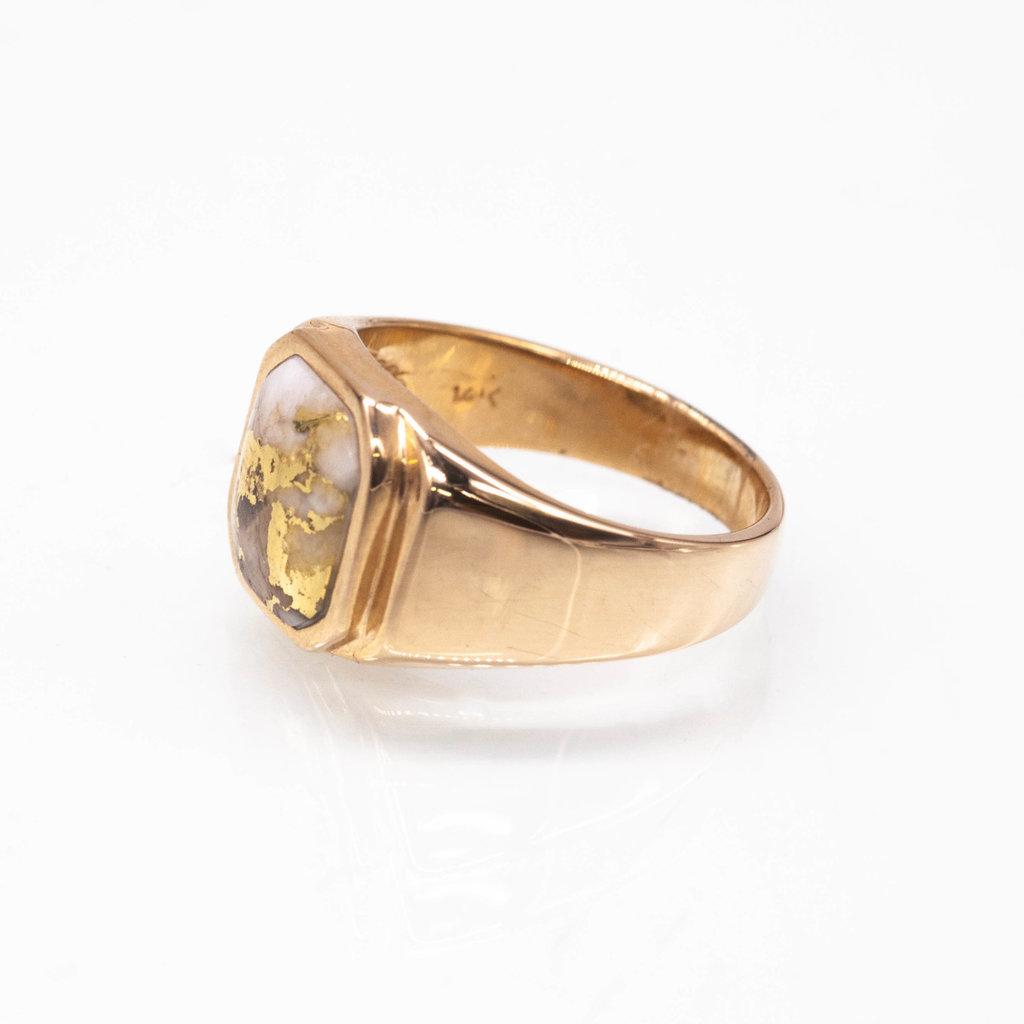 Gold Quartz Ring - RMG1080Q - 11