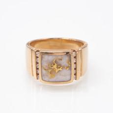 GOLD QUARTZ RING - RM779D24Q - 12