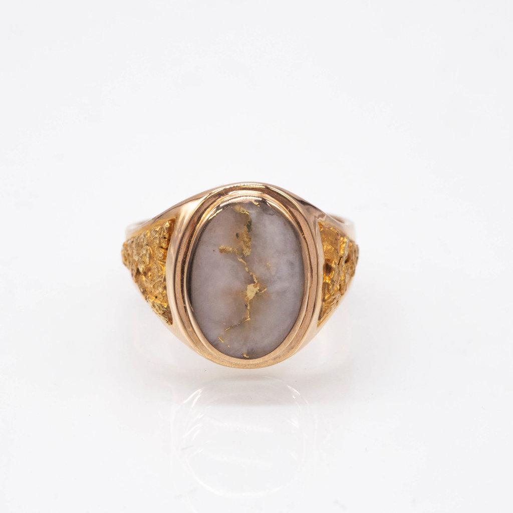 Gold Quartz Ring - RM675Q- 10.25