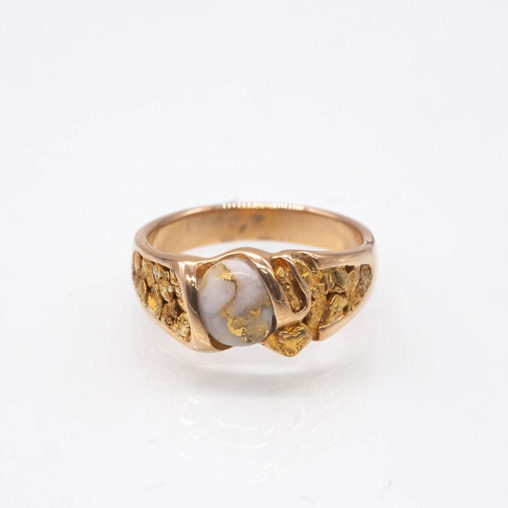Gold Quartz Gold Quartz Ring - RM486Q - 11.5