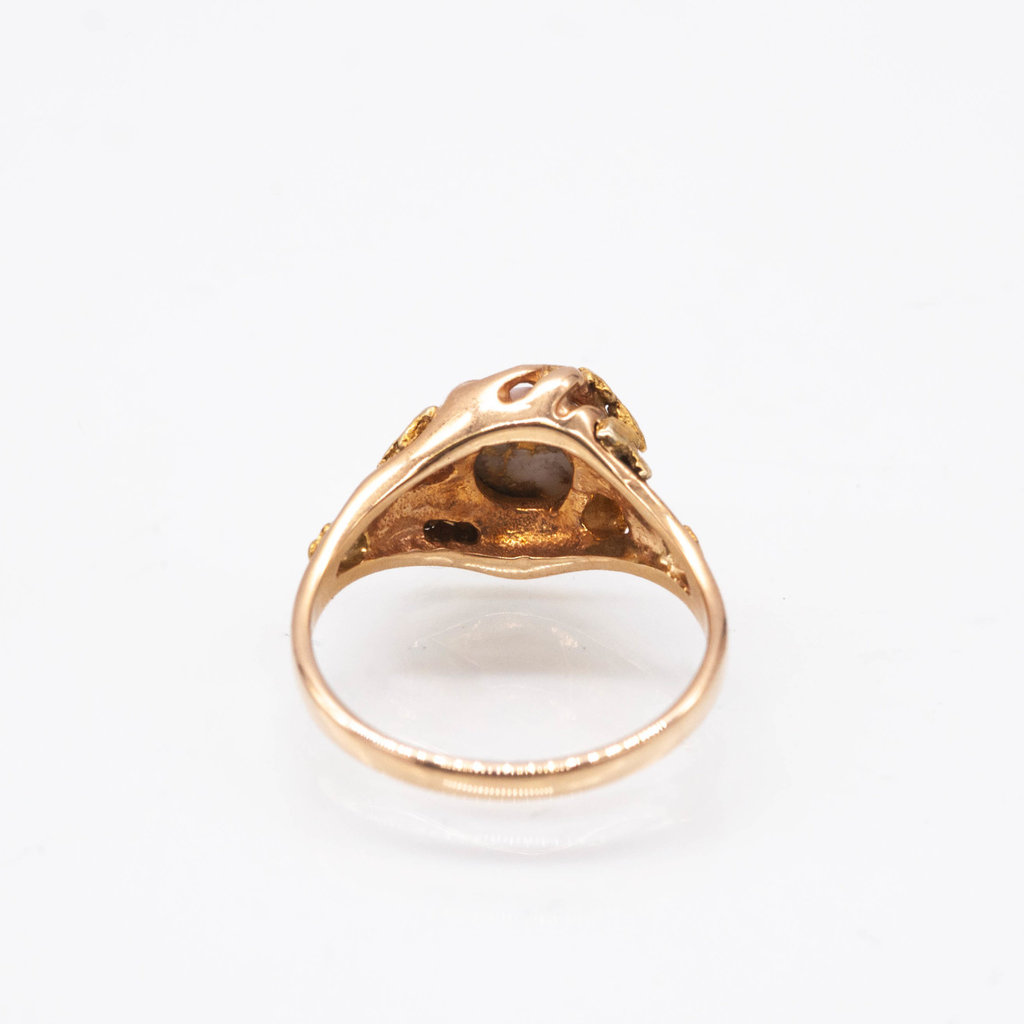 Gold Quartz Ring - RL659Q - 7.25