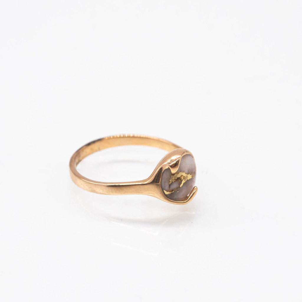 GOLD QUARTZ RING - RL650Q - 7.75