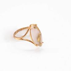 Gold Quartz Ring - RLBS15Q -5.25