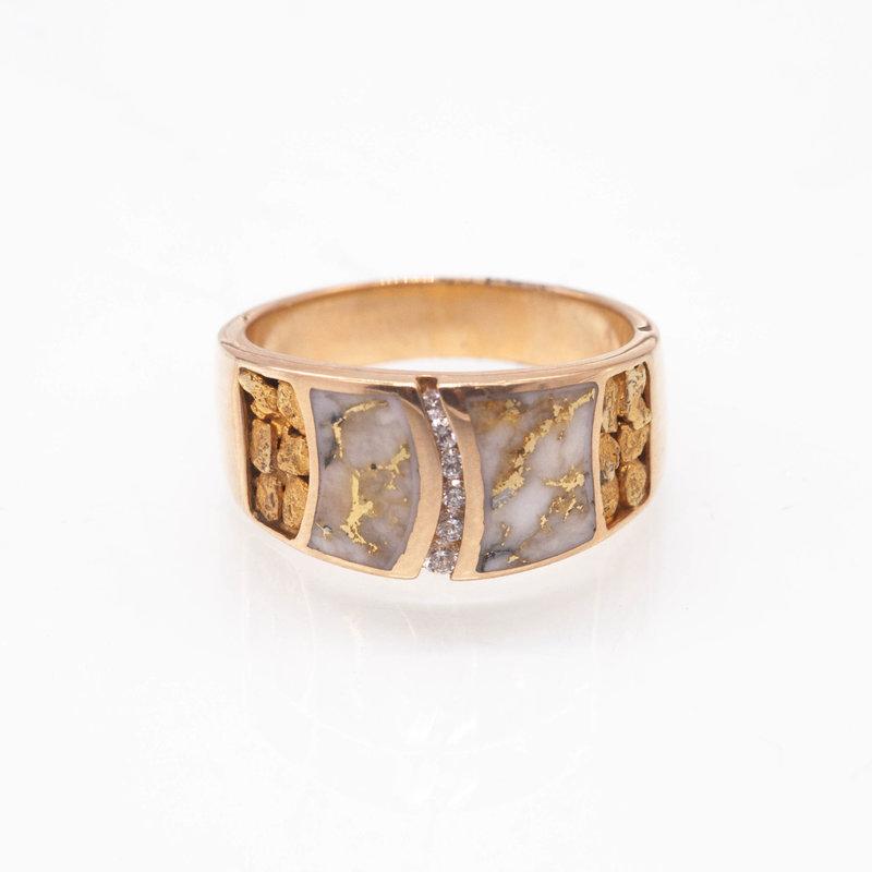 Gold Quartz Ring - RMDL58D15NQ - 11