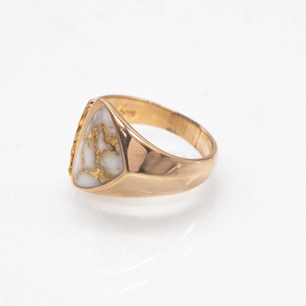 Gold Quartz Ring RMG10933NQ - 11.25