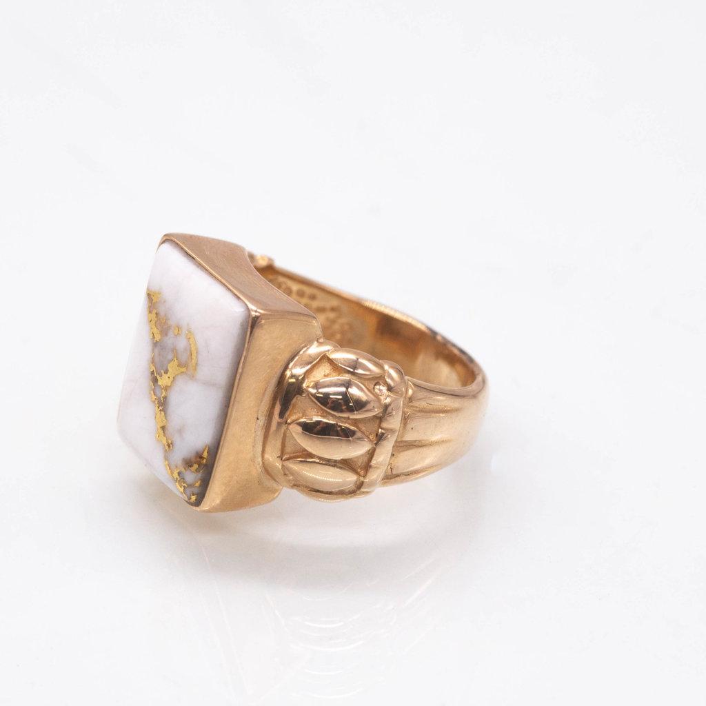 Gold Quartz Ring - RL1039Q - 8