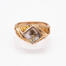 Gold Quartz Ring - RM1083NQ - 11
